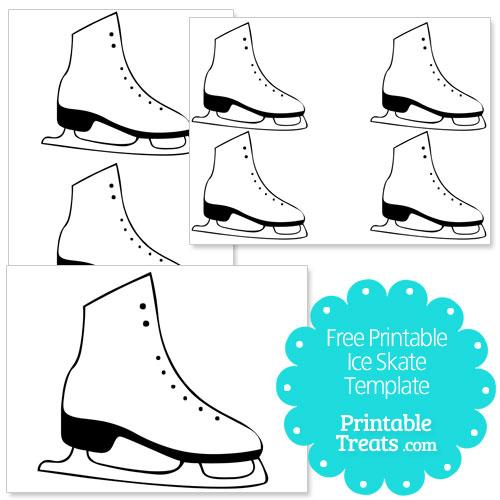 free printable ice skate template