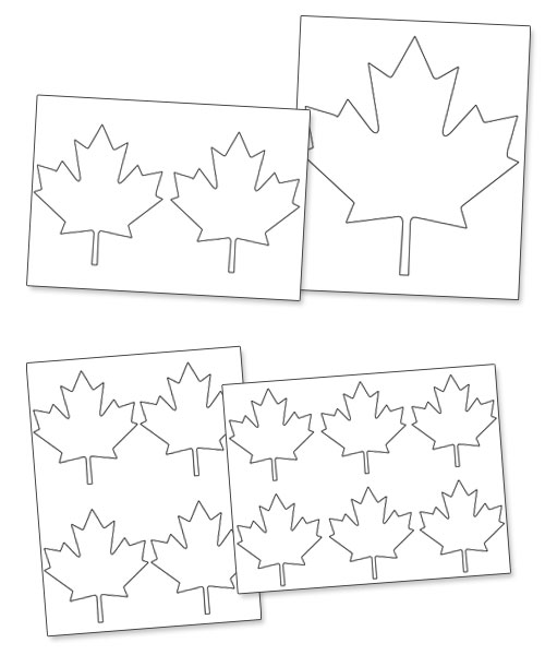 free printable maple leaf pattern