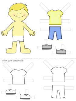 free printable paper doll