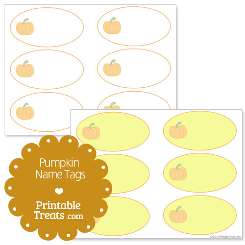 free printable pumpkin name tags