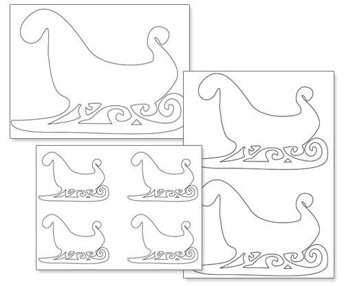 free printable sleigh template