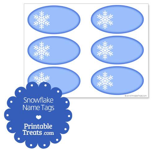 free printable snowflake name tags