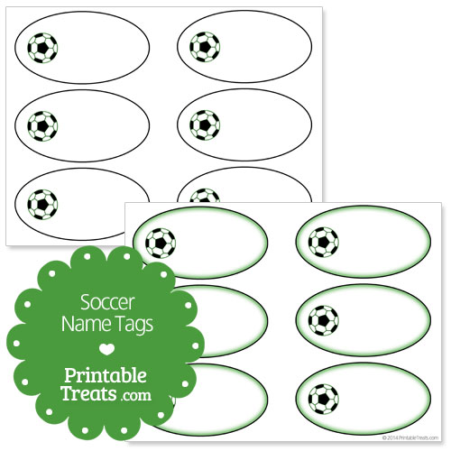 free printable soccer name tags