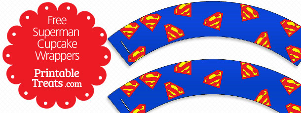 free printable superman cupcake wrappers