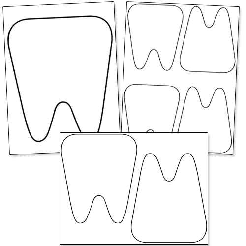 free printable tooth template