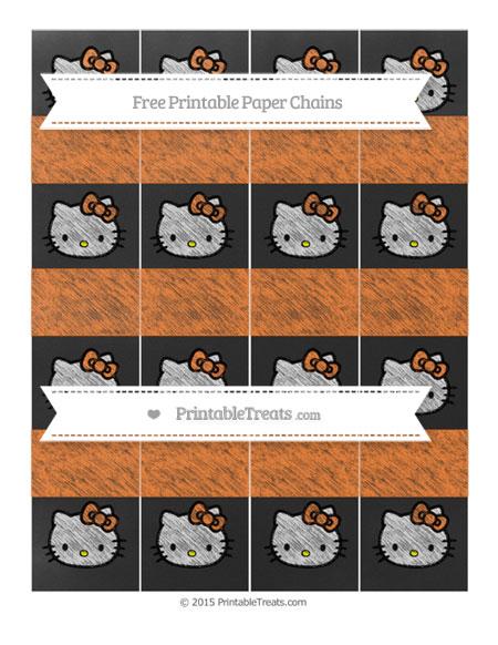 Free Pumpkin Orange Chalk Style Hello Kitty Paper Chains