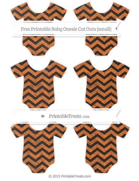 Free Pumpkin Orange Chevron Chalk Style Small Baby Onesie Cut Outs