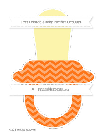Free Pumpkin Orange Chevron Extra Large Baby Pacifier Cut Outs
