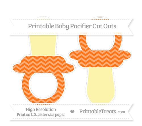 Free Pumpkin Orange Chevron Large Baby Pacifier Cut Outs