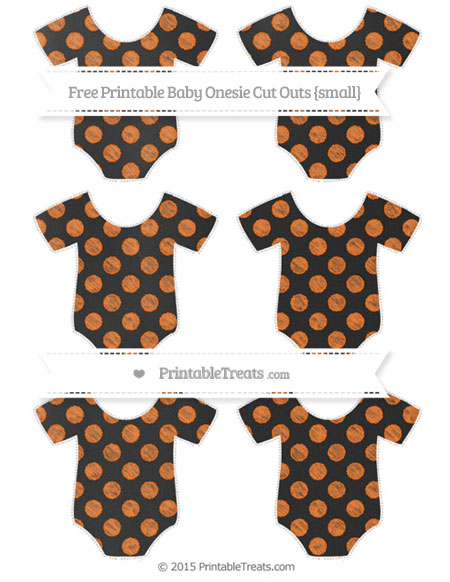 Free Pumpkin Orange Dotted Pattern Chalk Style Small Baby Onesie Cut Outs