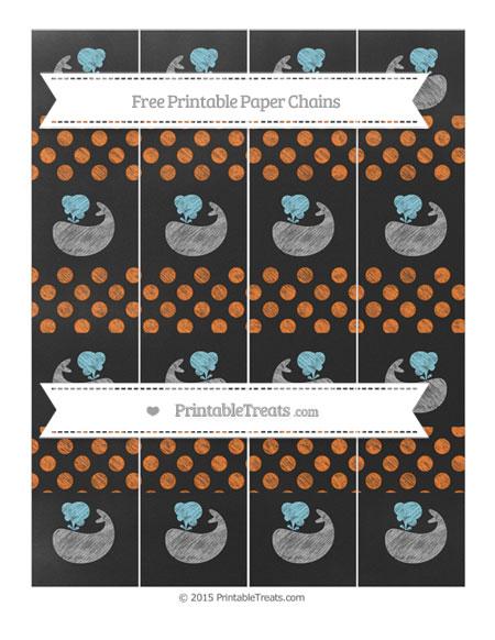 Pumpkin Orange Dotted Pattern Chalk Style Whale Paper ...