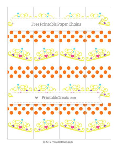 Free Pumpkin Orange Dotted Pattern Princess Tiara Paper Chains