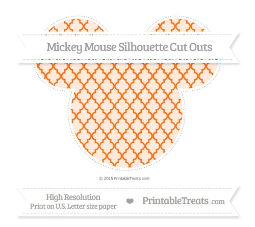 Free Pumpkin Orange Moroccan Tile Extra Large Mickey Mouse Silhouette Cut Outs
