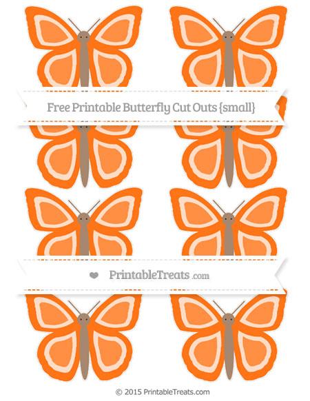 Free Pumpkin Orange Small Butterfly Cut Outs