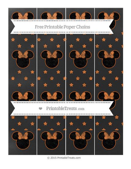 Free Pumpkin Orange Star Pattern Chalk Style Minnie Mouse Paper Chains