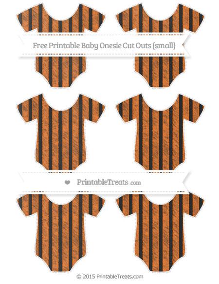 Free Pumpkin Orange Striped Chalk Style Small Baby Onesie Cut Outs