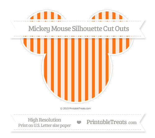 Free Pumpkin Orange Striped Extra Large Mickey Mouse Silhouette Cut Outs