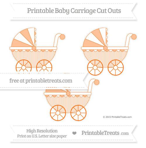 Free Pumpkin Orange Thin Striped Pattern Medium Baby Carriage Cut Outs