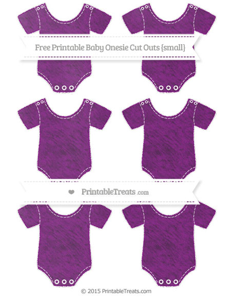 Free Purple Chalk Style Small Baby Onesie Cut Outs