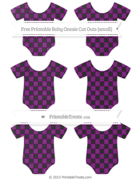 Free Purple Checker Pattern Chalk Style Small Baby Onesie Cut Outs