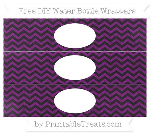Free Purple Chevron Chalk Style DIY Water Bottle Wrappers