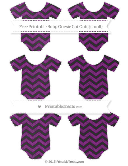 Free Purple Chevron Chalk Style Small Baby Onesie Cut Outs