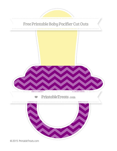 Free Purple Chevron Extra Large Baby Pacifier Cut Outs