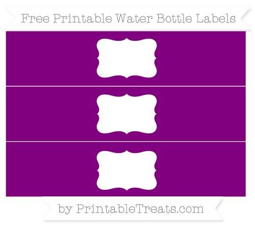 Free Purple Water Bottle Labels