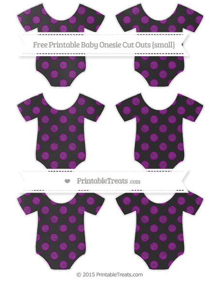 Free Purple Dotted Pattern Chalk Style Small Baby Onesie Cut Outs