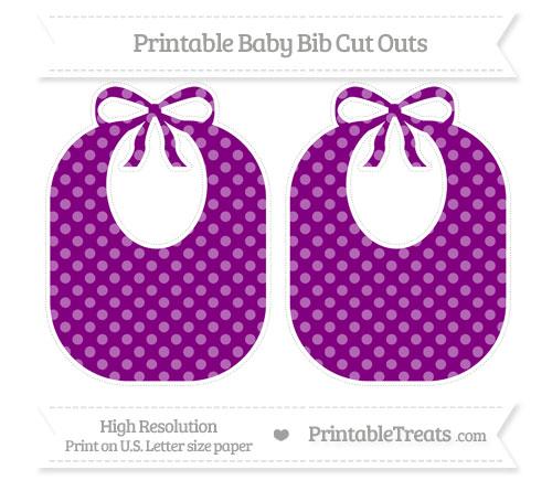 Free Purple Dotted Pattern Large Baby Bib Cut Outs
