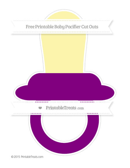 Free Purple Extra Large Baby Pacifier Cut Outs