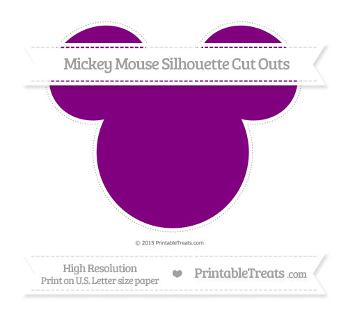 Free Purple Extra Large Mickey Mouse Silhouette Cut Outs