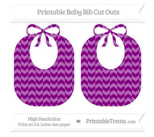 Free Purple Herringbone Pattern Large Baby Bib Cut Outs