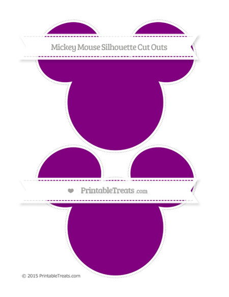 Free Purple Large Mickey Mouse Silhouette Cut Outs
