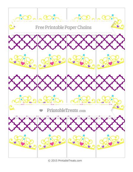 Free Purple Moroccan Tile Princess Tiara Paper Chains