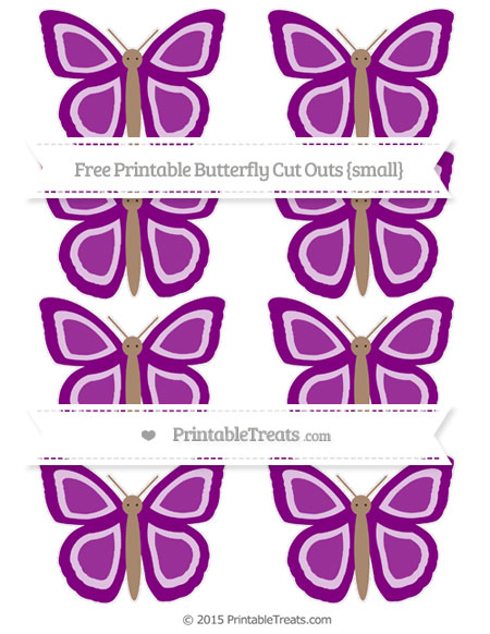 Free Purple Small Butterfly Cut Outs