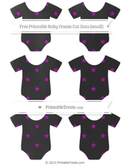 Free Purple Star Pattern Chalk Style Small Baby Onesie Cut Outs