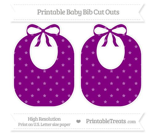 Free Purple Star Pattern Large Baby Bib Cut Outs