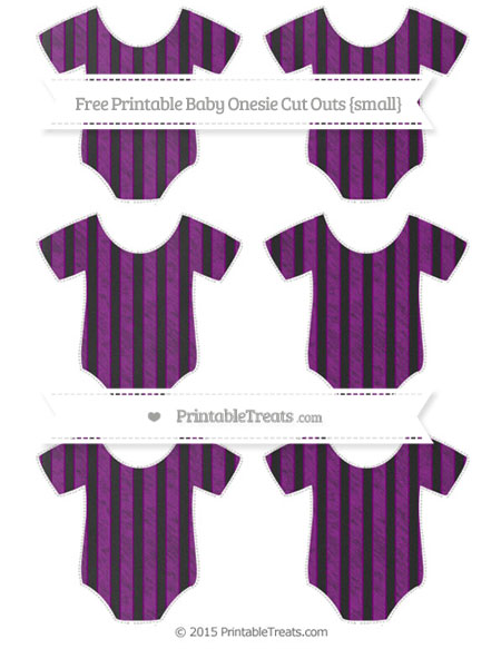 Free Purple Striped Chalk Style Small Baby Onesie Cut Outs