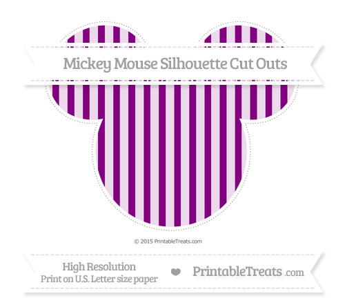 Free Purple Striped Extra Large Mickey Mouse Silhouette Cut Outs