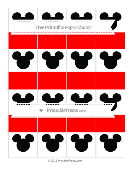 Free Red Mickey Mouse Paper Chains