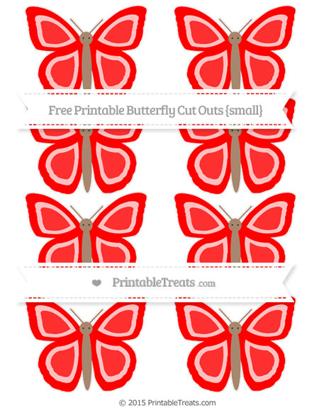 Free Red Small Butterfly Cut Outs