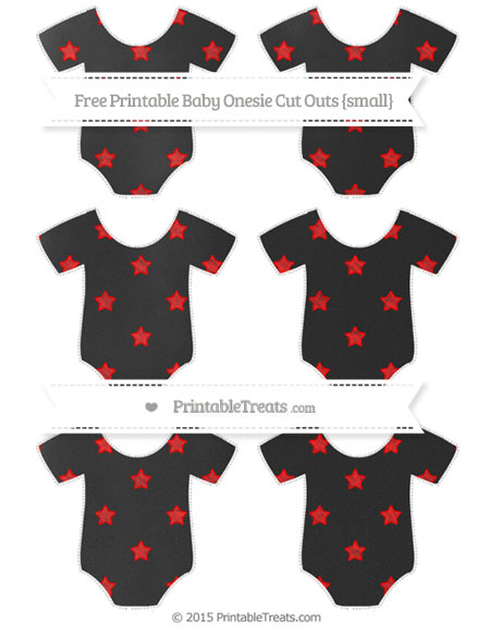 Free Red Star Pattern Chalk Style Small Baby Onesie Cut Outs