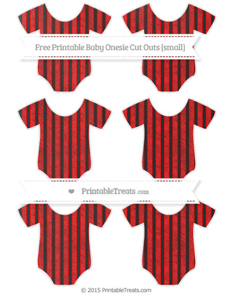 Free Red Thin Striped Pattern Chalk Style Small Baby Onesie Cut Outs