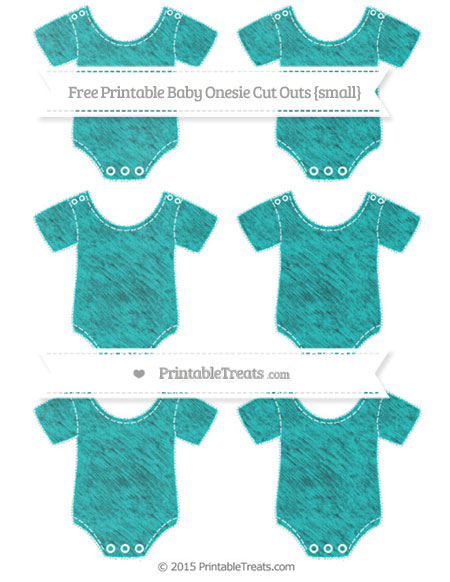 Free Robin Egg Blue Chalk Style Small Baby Onesie Cut Outs