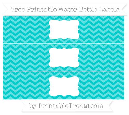 Free Robin Egg Blue Chevron Water Bottle Labels