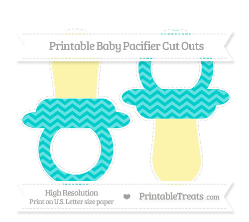 Free Robin Egg Blue Chevron Large Baby Pacifier Cut Outs