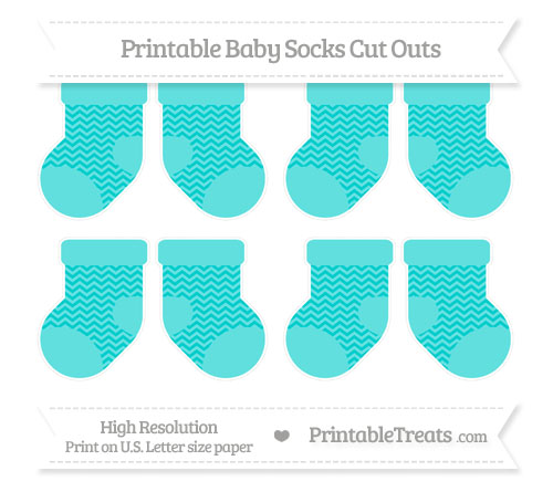 Free Robin Egg Blue Chevron Small Baby Socks Cut Outs