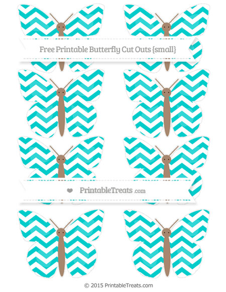 Free Robin Egg Blue Chevron Small Butterfly Cut Outs