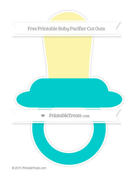 Free Robin Egg Blue Extra Large Baby Pacifier Cut Outs